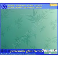 New design pattern acid etched glass, decorative building glass for window/door