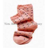 fashion  leisure jacquard women crew socks