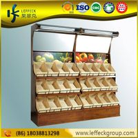 Metal super market fruit basket display, basket rack storage