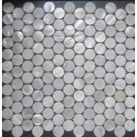 Round Mother of Pearl Shell Mosaic Tile, Wall Tiles, Background
