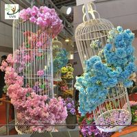 UVG CHR130 silk flower arrangement in artificial blossom tree branches wedding backdrops material
