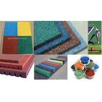 1-2mm EPDM Color rubber granules use for artificial lawn, parks and sidewalk