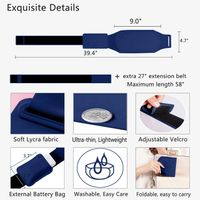 Heating pad for cramps far infrared electric USB massage belt for lower back stomach waist abdomen thumbnail image
