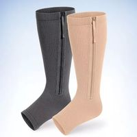 Zipper compression stockings Open Toe