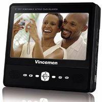 "Vincemen 7"" Portable DVD Player"