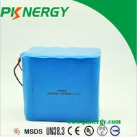 BIS certificated 10400mah 3s5p 11.1v ICR18650 lithium li-ion Rechargeable Battery Pack thumbnail image