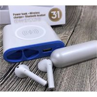 XT6 TWS 3 in 1 Bluetooth wireless headset earphone +wireless charger+wired charge powerbank 5200mah thumbnail image