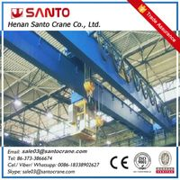 CE ISO approved heavy duty electric double girder electric hoist overhead crane with hook thumbnail image