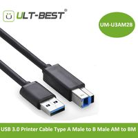USB 3.0 Printer Cable Type A Male to B Male AM to BM Super Speed 5Gbps Print Cables Cabo 1M
