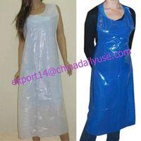 Plastic Apron Disposable Poly Apron Blue/White PE Apron