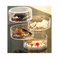 Stackable Clear Plastic Hair Accessory Containers Jewelry Storage Organizer with Lids thumbnail image
