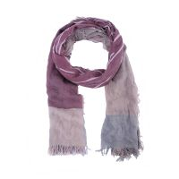 Fall season scarf for lady leaf pattern color blocking scarf