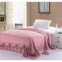 bear printed coral fleece blanket thumbnail image