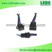 Locking 4 Wire RGB LED Strip Quick Connector