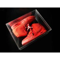 2016 Customized Wholesale acrylic nike shoe box with drawer, custom printed shoe box
