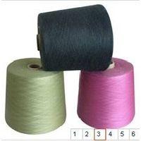 black 100% polyester spun yarn, Ne30/1,regenerated AA thumbnail image