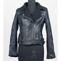 Ladies suede with fleece lining bike jacket