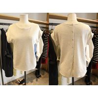 LINEN BACK BUTTON T