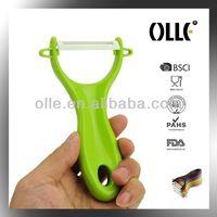 Olle PE06 Green Handle Ceramic Vegetable Peeler