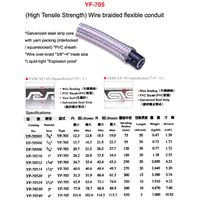 heavy series OVER braided liquid tight conduit heavy sheath over braided flexible conduit fittings f