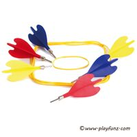 Outdoor Garden Sport Toy Lawn Darts Game Set Colorful Darts&Ring Tagets