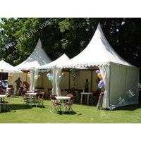 4x4m garden shade tent for party in white or blue thumbnail image