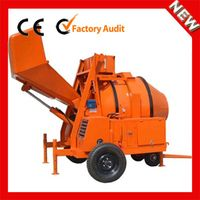 Hydraulic small portable JZR500 concrete mixer with hopper price in india