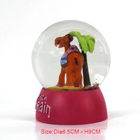 Romantic snow globe can be custom for Valentine's Day