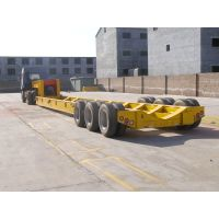 China made hydraulic low bed semi trailer | heavy equipment transport trailers | hydraulic extendabl