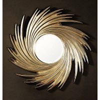 woodcarving with mirror for home decor