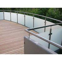 Outside balcony glass railing handrail