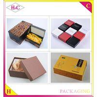 Custom logo printed recycled cardboard luxury 2 piece gift box packaging, kraft paper box