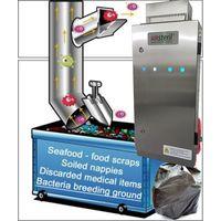 UV ozone generator for garbage trash refuse compactor room odor odour control