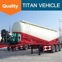Titan Vehicle tri axle trailer sale bulk cement transportation truck for sale