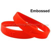 STARLING Silicone- Embossed Silicone Wristband, Embossed Silicone Bracelets, Silicone Bracelet thumbnail image