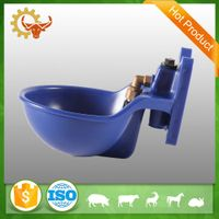 2016 hot product 2.0L lightweight blue cattle drinking water bowl