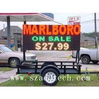 Tricolor LED Trailer Message Signage in USA , Canada