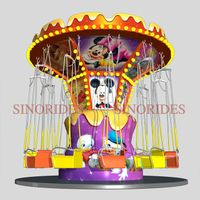 theme park outdoor flying chair mini kids simple swing chair thumbnail image