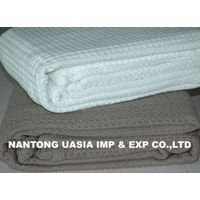 100% cotton Waffle Cellular Blanket