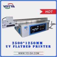 2.5m*1.25m large format superior quality uv flatbed inkjet printer