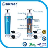 hot sale Diercon portable water filter purifier camping,survival,soldier