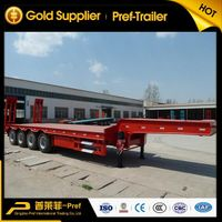 4 axles 80 tons low bed semi trailer for heavy equipment transportation thumbnail image