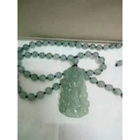 Handmade, jade necklace