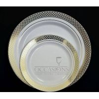 Elegant Disposable Party Dinner Plastic Plates