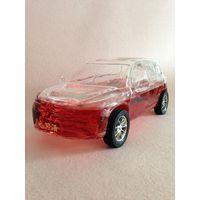 Decorative Handicraft Glass Wine Bottle In Racing Car Shape Design Special design car shaped glass w
