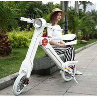 36v 250W Lehe k1 folding electric scooter lithium battery foldable electric bicycle thumbnail image