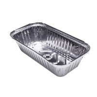 Food grade bakery trays disposable takeaway rectangle aluminum foil container for food pack thumbnail image