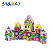 Educational 3D DIY kids set building magnetic toy block with light thumbnail image
