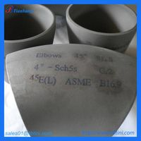"China supplier 45degree gr2 S/R 4"" sch5s titanium elbow"