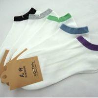 Wholesale Men's Colorful Edge Cotton Socks